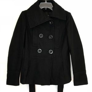 Zara Basics Wide Collar Pea Coat